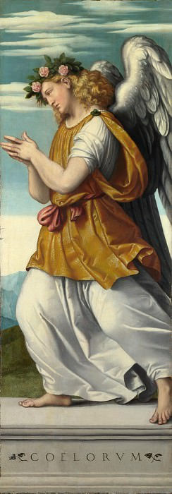 Moretto da Brescia - An Adoring Angel. Part 5 National Gallery UK