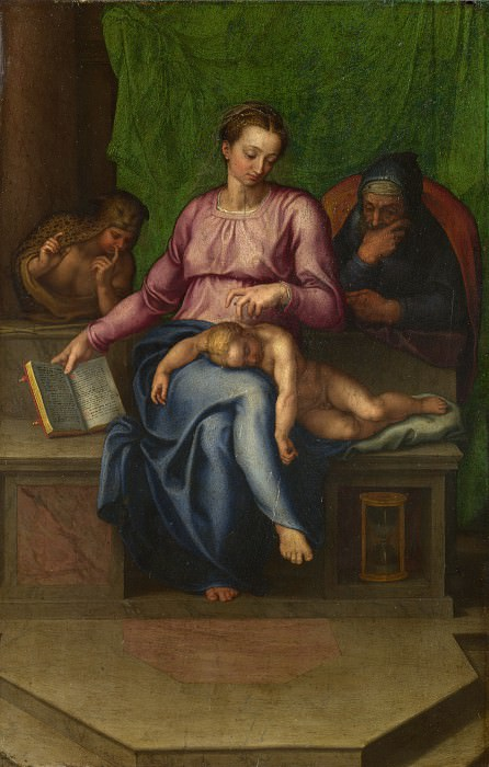 Marcello Venusti (after Michelangelo) - The Holy Family (Il Silenzio). Part 5 National Gallery UK