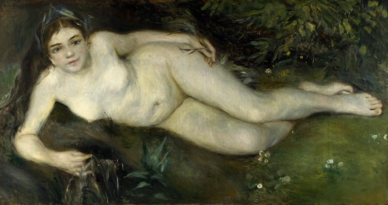 Pierre-Auguste Renoir - A Nymph by a Stream. Part 5 National Gallery UK