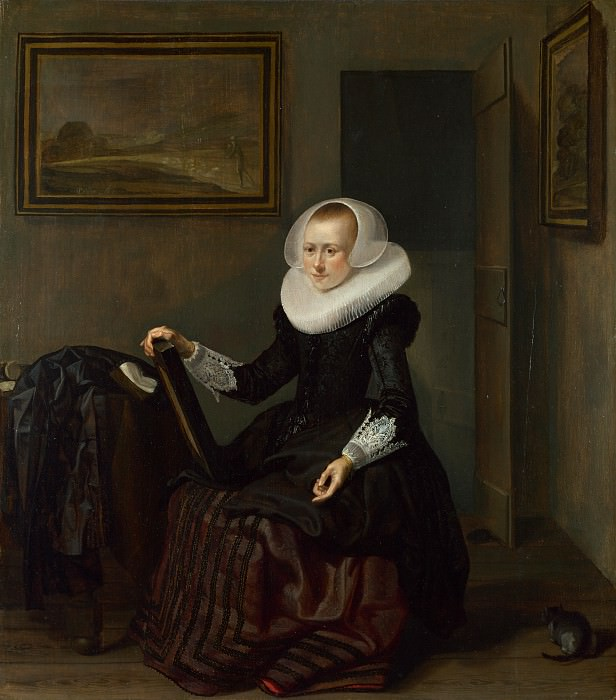 Pieter Codde - A Woman holding a Mirror. Part 5 National Gallery UK