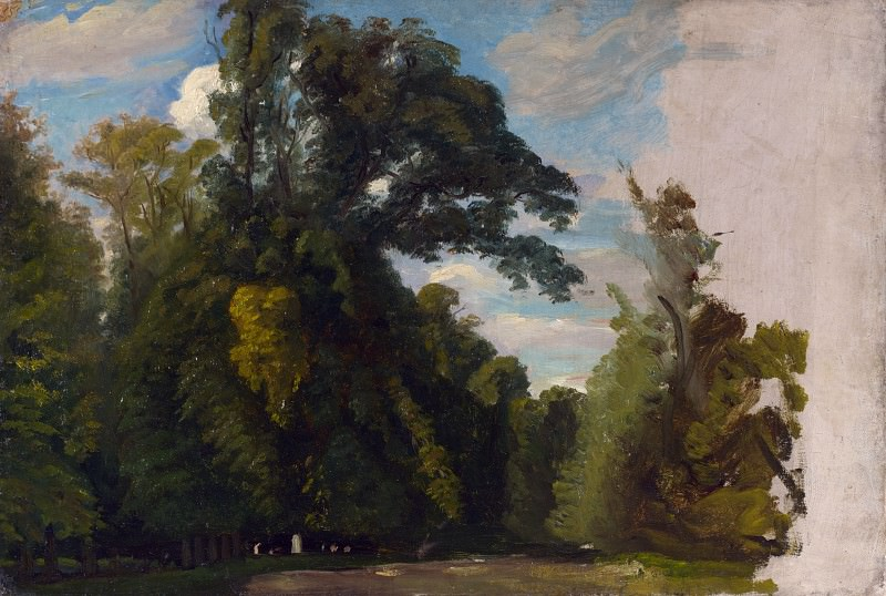 Paul Huet - Trees in the Park at Saint-Cloud. Part 5 National Gallery UK
