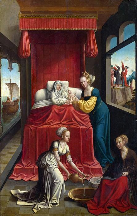 Netherlandish - The Birth of the Virgin. Part 5 National Gallery UK