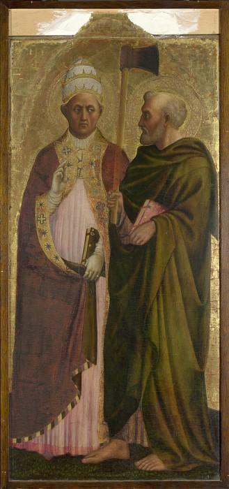 Мазолино - Святые папа Григорий и Матфий. Часть 5 Национальная галерея