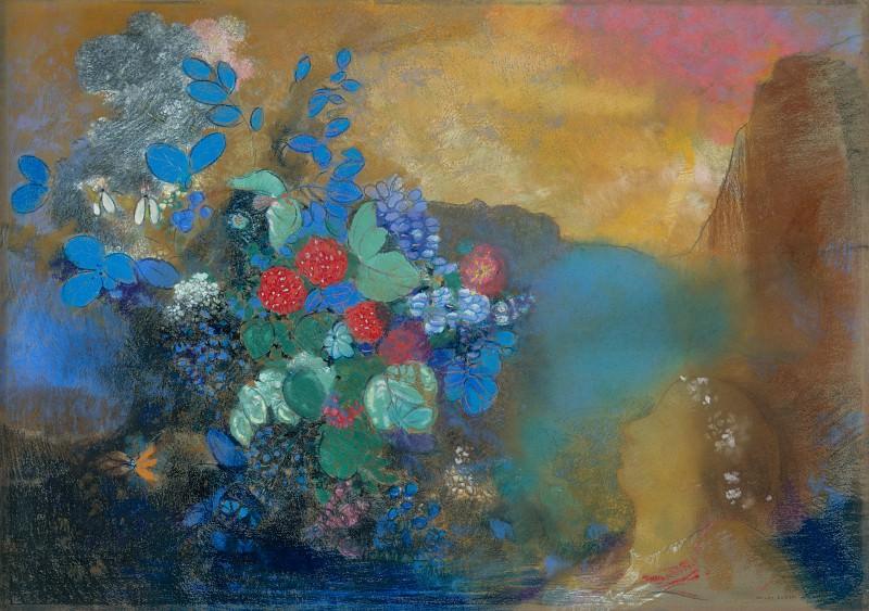 Одилон Редон - Офелия среди цветов. Часть 5 Национальная галерея