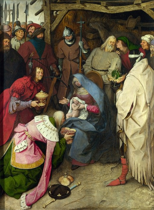 The Adoration of the Kings. Pieter Brueghel The Elder