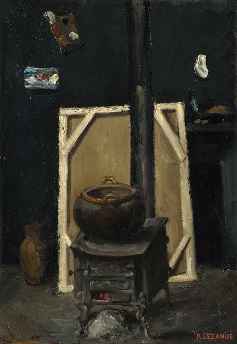 Paul Cezanne - The Stove in the Studio. Part 5 National Gallery UK
