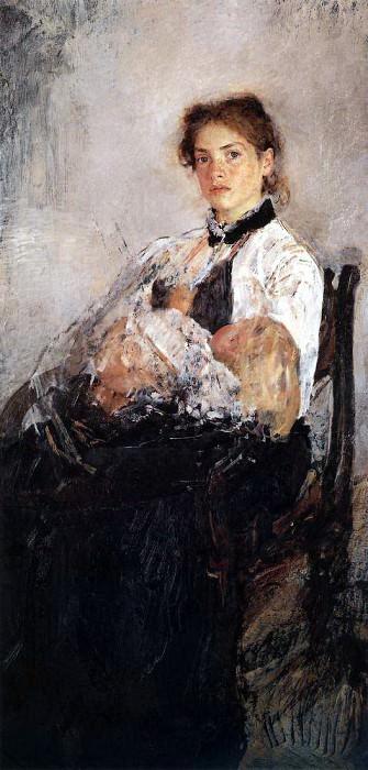 Портрет Н. Я. Дервиз с ребенком. 1888-1889. Валентин Александрович Серов