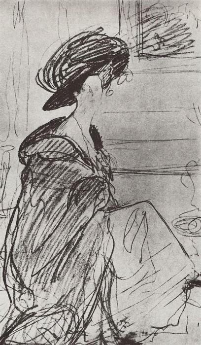 Portrait of Prince. Olga Orlova. 1910. Valentin Serov