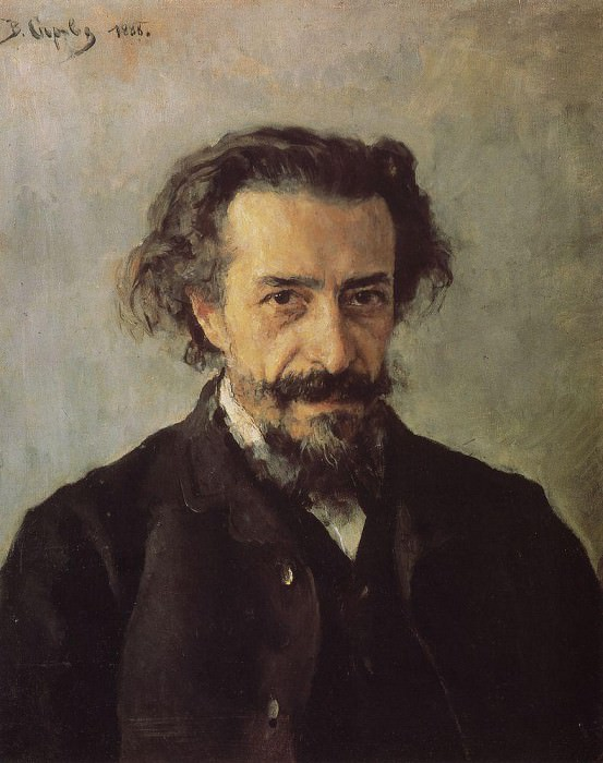 Portrait of the composer PI Blaramberga. 1888. Valentin Serov