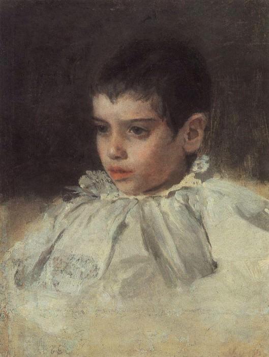 Lyalya (Adelaide Yakovlevna) Simonovic. 1880. Valentin Serov