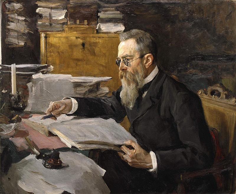 Portrait of the composer N.A. Rimsky-Korsakov (1844-1908). Valentin Serov