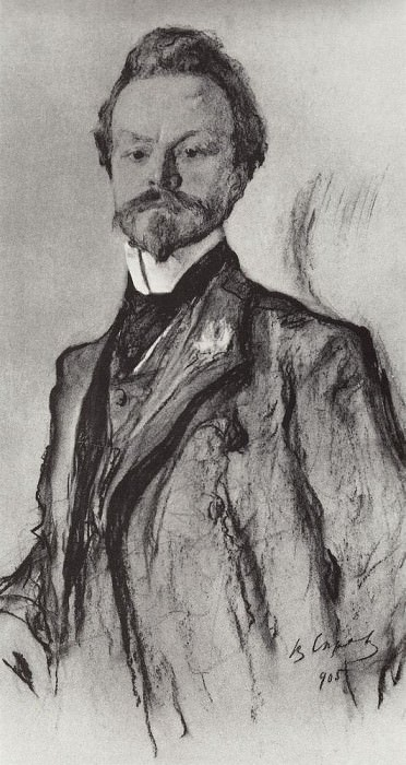 Portrait of the poet KD Balmont. 1905. Valentin Serov