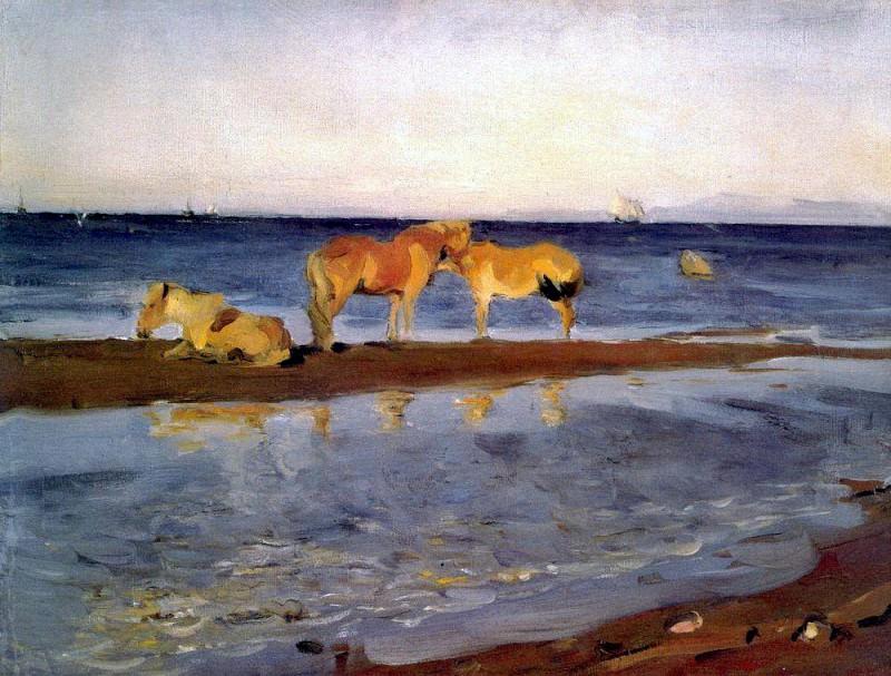 Horses on the beach. 1905. Valentin Serov