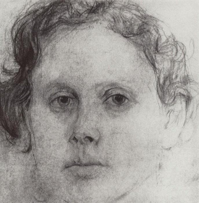 Portrait O. Trubnikov. 1885. Valentin Serov