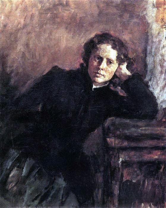 the window. Portrait of O. Trubnikov. 1885. Valentin Serov