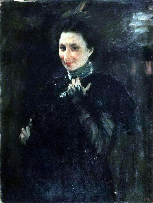 Portrait of MK Olive. 1895. Valentin Serov
