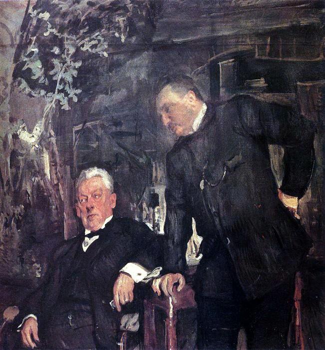 Portrait artists AP Lenski and AI Yuzhin. 1908. Valentin Serov