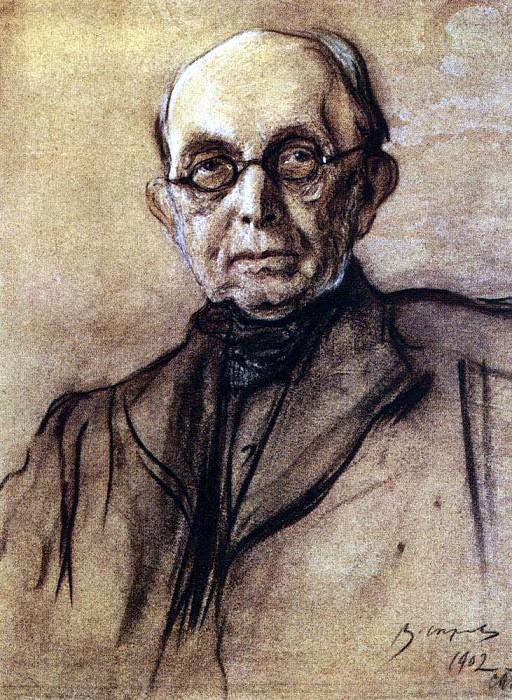 Portrait KP Pobedonostsev. 1,902. Valentin Serov
