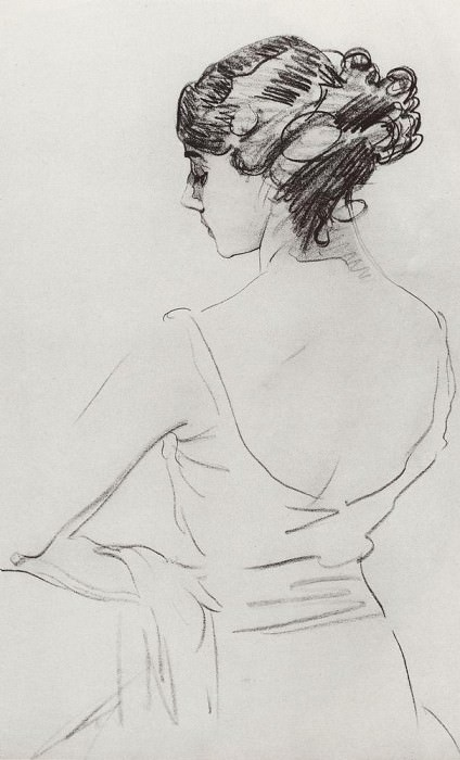 Portrait of a ballerina TP Karsavina. 1909. Valentin Serov
