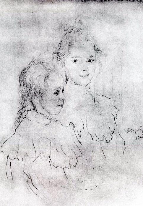 Portrait daughters S. Botkin. 1900. Valentin Serov