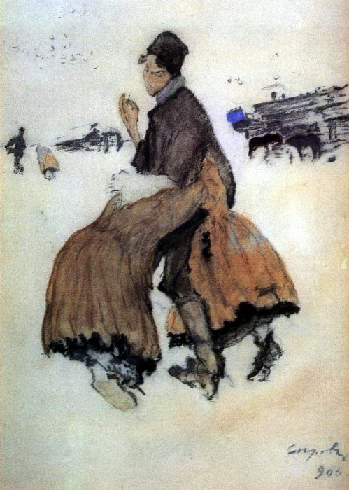Recruit. 1906. Valentin Serov
