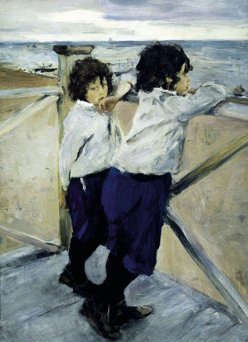 Children (Sasha and Yura Serov). 1899. Valentin Serov