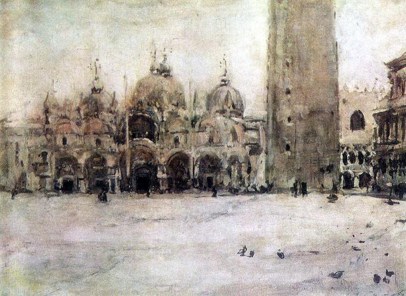 Площадь Св. Марка в Венеции. 1887. Валентин Александрович Серов