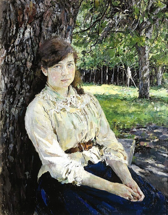 Girl illuminated by the sun. Portrait of M.Ya.Simonovich. Valentin Serov