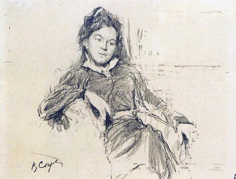 Portrait of the artist AP Ostroumova-Lebedeva. 1899. Valentin Serov