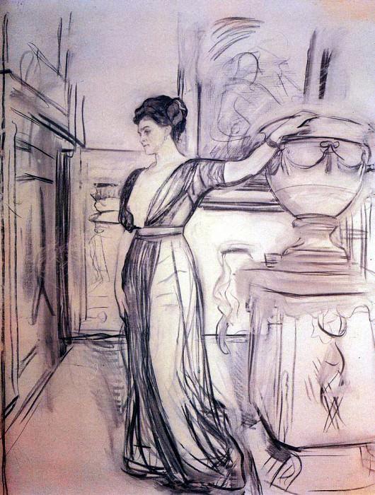 Портрет кн. П. А. Щербатовой. 1911. Валентин Александрович Серов