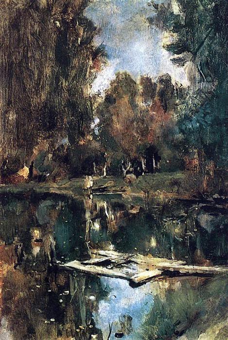 pond. Abramtzevo. 1886. Valentin Serov