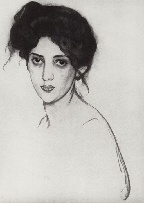 Портрет И. Ю. Грюнберг. 1910. Валентин Александрович Серов