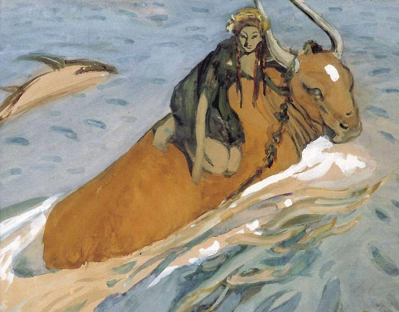 Abduction of Europe 3. 1910. Valentin Serov