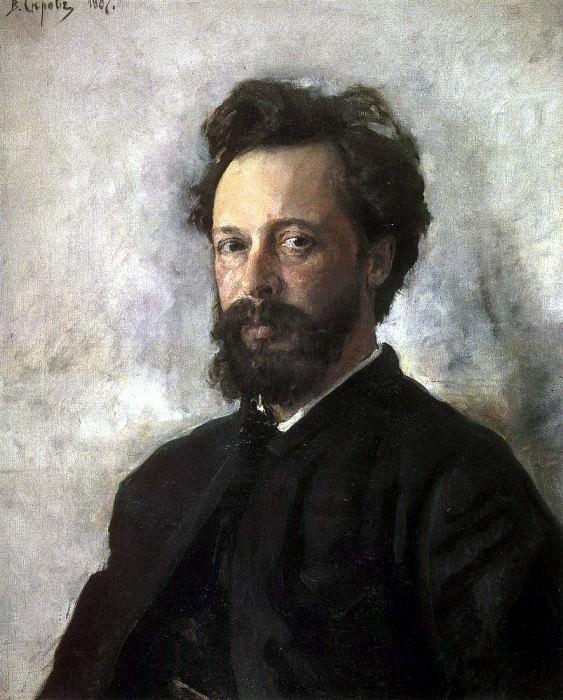 Portrait SP Chokolova. 1887. Valentin Serov
