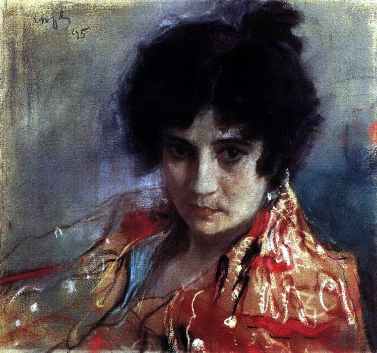 Portrait of an unknown. 1895. Valentin Serov