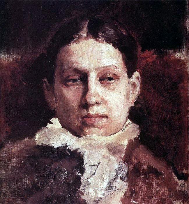 Портрет В. А. Репиной. 1881. Валентин Александрович Серов