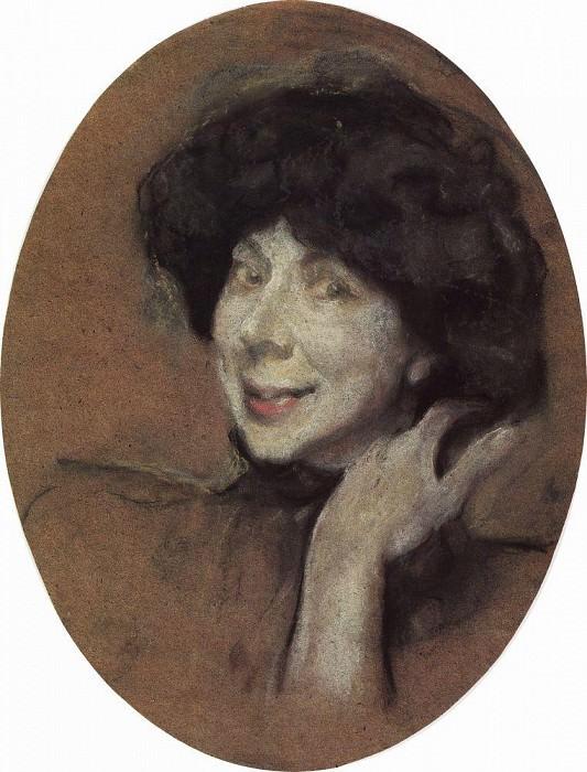 Portrait of AK Benoit. 1908. Valentin Serov