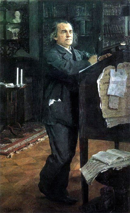 Portrait of the composer Alexander Serov, the father of the artist. 1888-1889. Valentin Serov