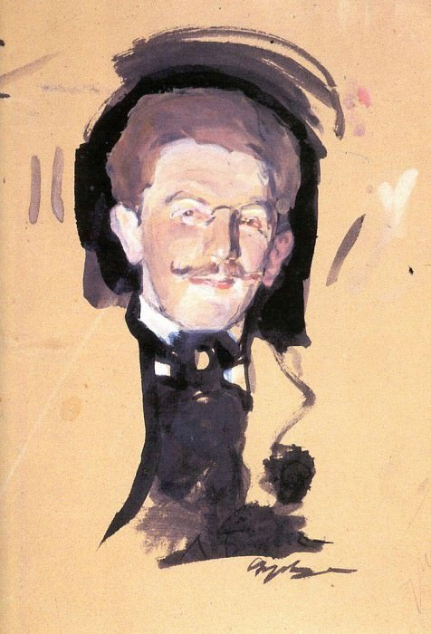 Portrait of Leon Bakst. The second half of 1900. Valentin Serov