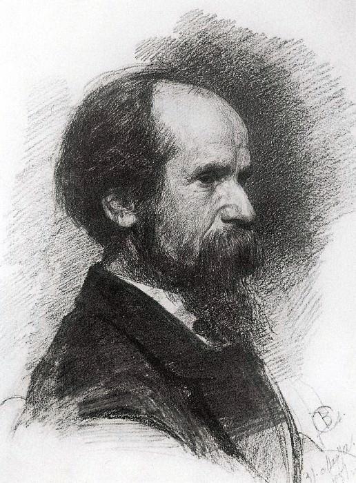Portrait of Pavel Chistyakov. 1881. Valentin Serov