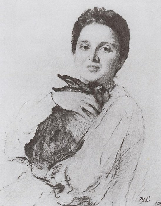 Portrait of KA Obninsk with the bunny. 1904. Valentin Serov
