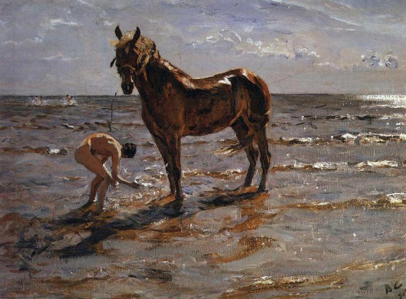 Bathing horses. 1905. Valentin Serov