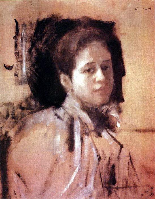 Portrait of LA Mamontova. 1894. Valentin Serov