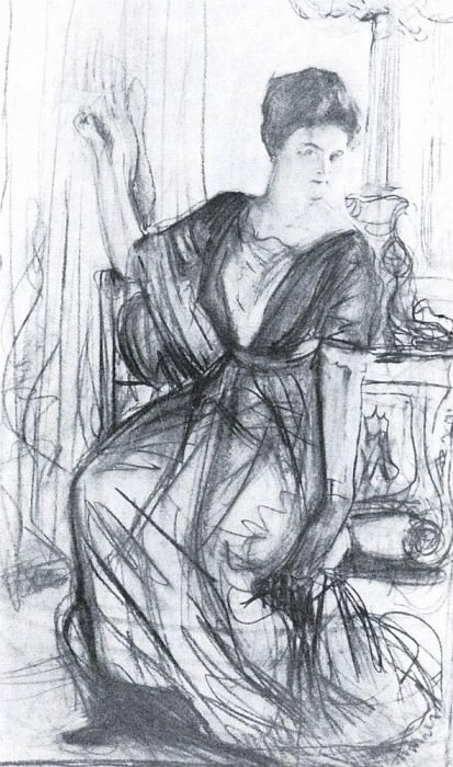 Sketch for a portrait PI Scherbatova 2. 1911. Valentin Serov