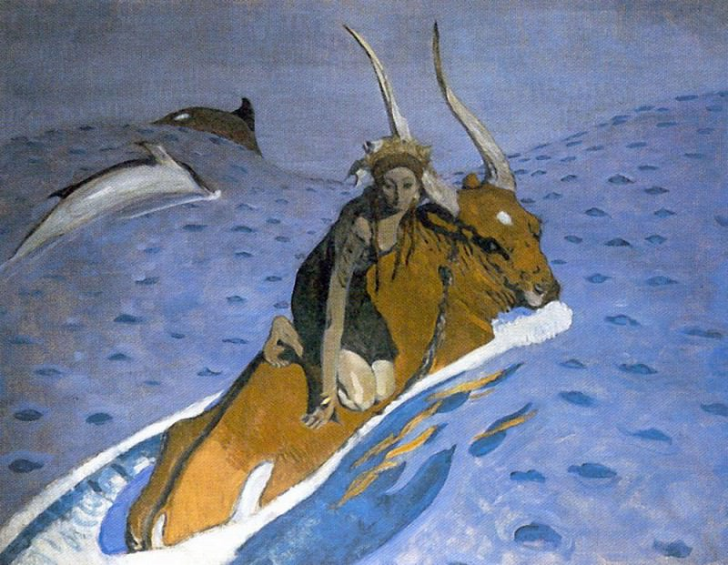 Abduction of Europe 4. 1910. Valentin Serov