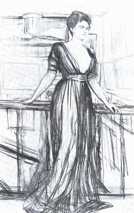 Sketch for a portrait PI Scherbatova 1. 1911. Valentin Serov