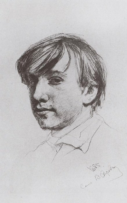 Self-portrait. 1881. Valentin Serov