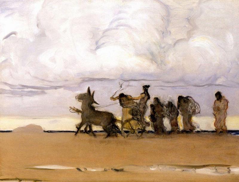 Одиссей и Навзикая 4. 1910. Валентин Александрович Серов