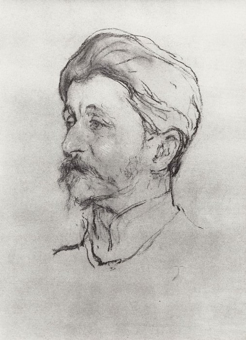 Portrait of the Artist MAVrubelja. 1907. Valentin Serov