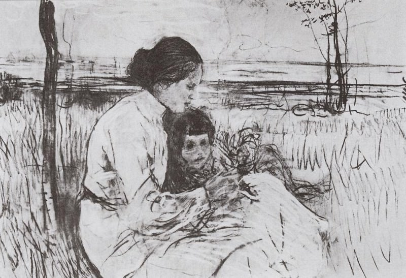 Children of the artist. Olga and Anton Serov. 1906. Valentin Serov
